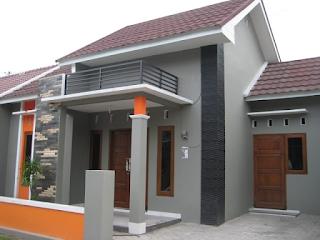 rumah sederhana setengah tembok