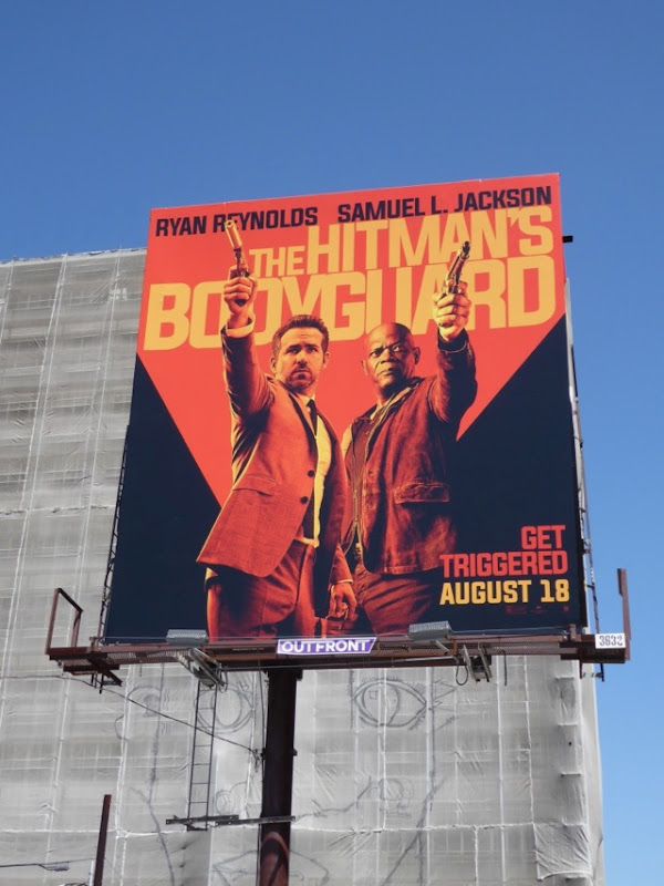 Hitmans Bodyguard movie billboard