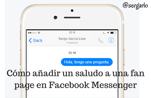 fan page, facebook, redes sociales, messenger, saludo