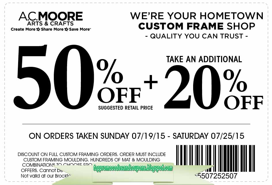photograph relating to Ac Moore Printable Coupon Blogspot known as Cost-free Promo Codes and Discount codes 2019: AC Moore Discount coupons