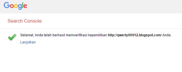 cara mendaftar Google Webmaster