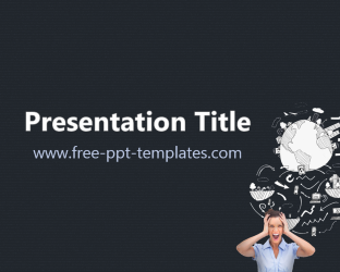 powerpoint theme vs template - information overload ppt template free powerpoint templates