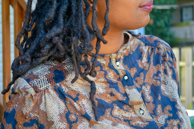 vintage blouse on thrift fashion blog