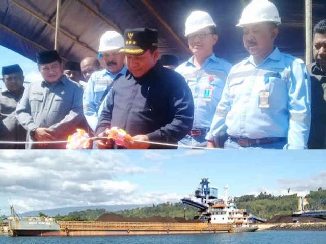 Aliong Mus Lepas Kapal Biji Besih Milik PT ADT ke Morowali