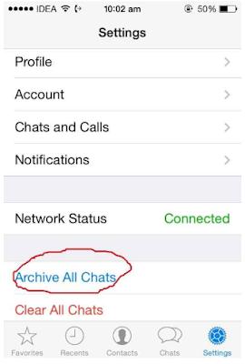 Cara Menyembunyikan Chat / Percakapan Di Whatsapp iPhone dan Android, Begini Caranya