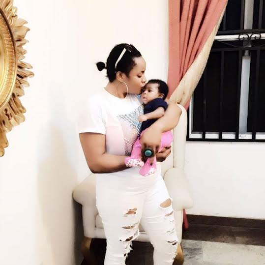 Uche Ogbodo Amp Oge Okoye Visit Uche Elendu And Her Newborn Baby Girl