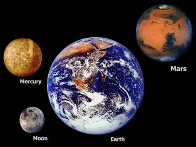 The Size Of Space As Depicted Here Is Truly Mind-Blowing - The earth is bigger than the Moon, Mercury and Mars.