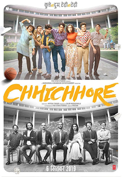 Poster of Chhichhore (2019) Full Movie Hindi 720p HDRip ESubs Download