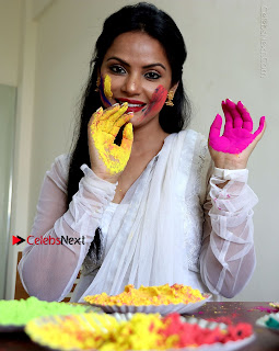 Bollywood Actress and Producer Neetu Chandra Special Po Shoot Gallery in a Dry Holi Celetion  0004.JPG