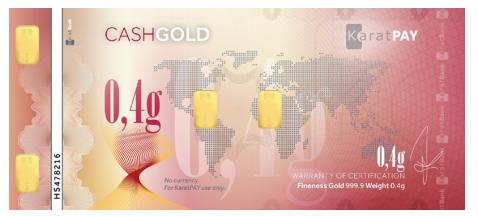 CashGold de 0,4 gramos
