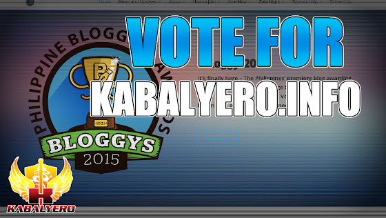 Vote For Kabalyero.Info ★ Philippine Blogging Awards