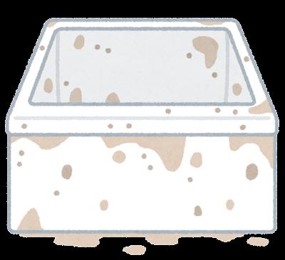 カビの生えた浴槽のイラスト