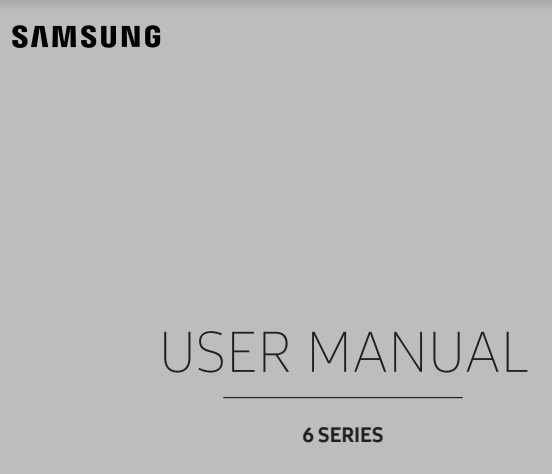 Samsung UE55KU6400 Manual