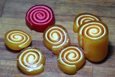 Piruletas rollitos de Gelatina con mavaviscos