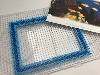 Making a Hama bead photo frame