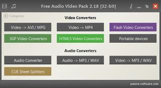 الأفضل, والأقوى, لتحويل, وتغيير, تنسيقات, الفيديو, والصوت, Free ,Audio ,Video ,Pack, اخر, اصدار