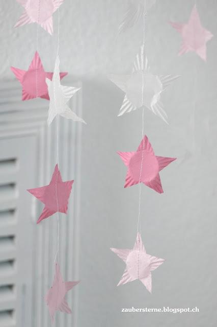 Stars Mobile, DiY Mobile, Sternenvorhang