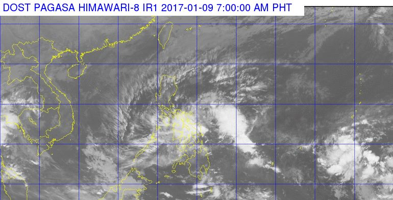 'Bagyong Auring' PAGASA weather update January 9, 2017
