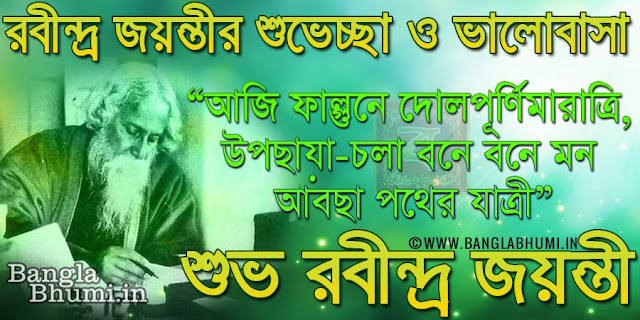 Rabindranath Tagore Jayanti Wishes in Bangla Wallpaper