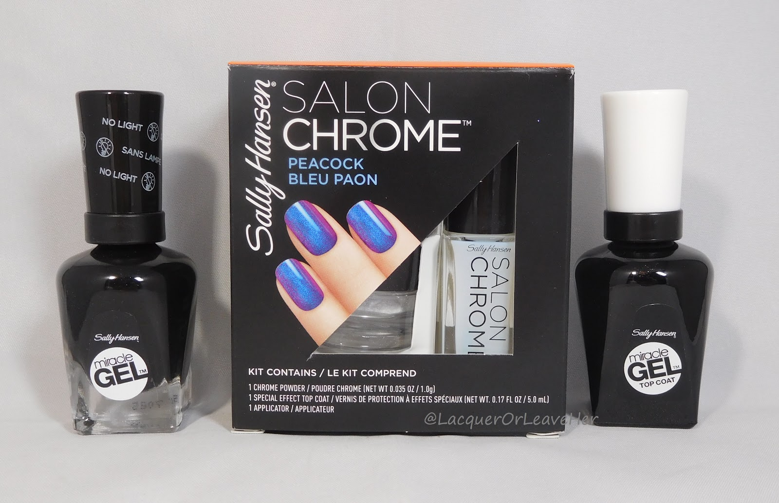 Lacquer or Leave Her!: Review: Sally Hansen Salon Chrome kit