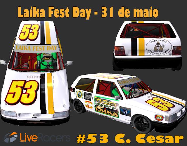 Carro de Caio César fica pronto para o Laika Fest Day