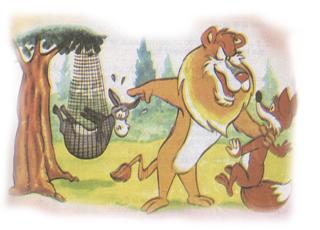 fabula el asno la zorra y el leon