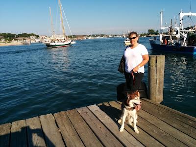Gosman's Dock in Montauk, Long Island, NY is dog friendly