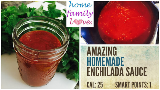 Super quick easy to make delicious homemade enchilada sauce.