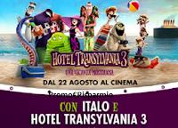 Logo Concorso Italo ''2 poltrone per 1'': vinci gratis kit Hotel Transilvania e 1 viaggio per 4 persone in Kenya