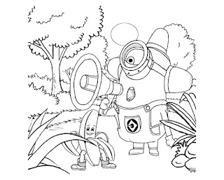Printable Minion And Banana Coloring Pages At Garden