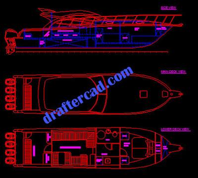 tracing gambar kapal - draftercad.com