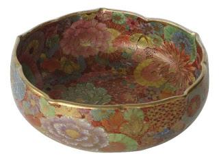 Satsuma Nuri-Tsuboshi Style Tea Bowl Meiji Period Ca 1890