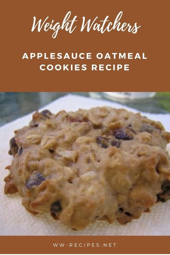 Weight Watchers Applesauce Oatmeal Cookies recipe