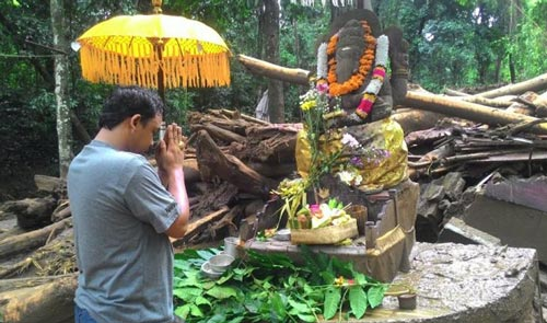 Keajaiban Patung Ganesha Selamat dari Banjir Bandang Bali