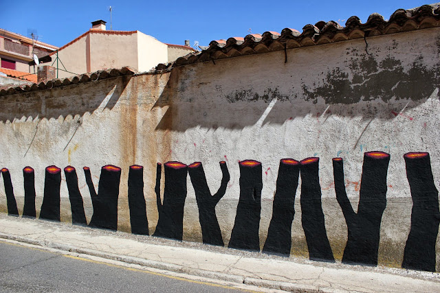 Street Art By Pablo S. Herrero and E1000 In The Pizarrales District Of Salamanca, Spain. 4