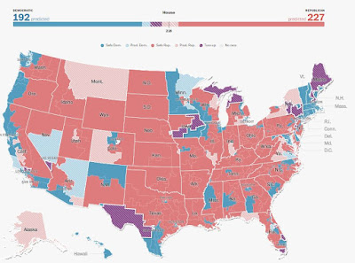 WaPo Map of House Races 11-1-2016