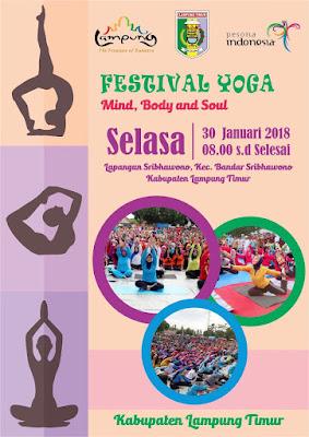 Pemda Lamtim Gelar Festival Yoga di Bandar Sribhawono