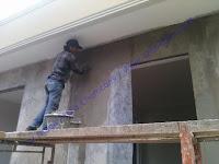 waterproofing coating plus serat pada rumah tinggal