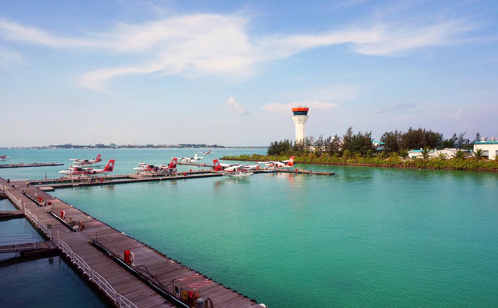 Euriental | fashion & luxury travel | Male airport seaplanes, Maldives