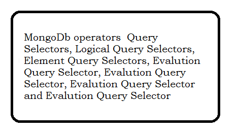 MongoDB operators with examples