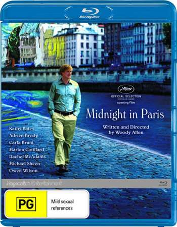 Poster Of Midnight in Paris 2011 English 300MB BRRip 480p ESubs Free Download Watch Online