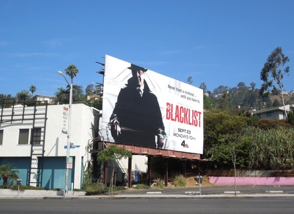 James Spader Blacklist NBC billboard