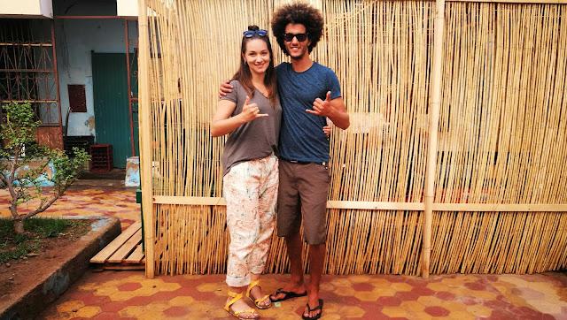 Ja i Anas - właściciel Ananas Kitesurfing. Essaouira, Maroko