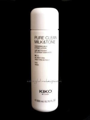 Pure Clean Milk & Tone Kiko Cosmetics: cosa ne penso?