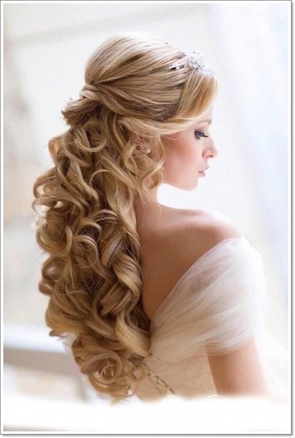 Brautfrisur lange haare 2018