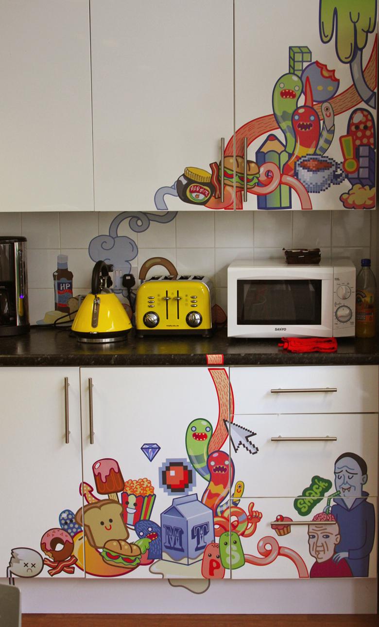 Fronty z nadrukiem w kuchni. Inspiracje, fronty drewniane, frontosfera