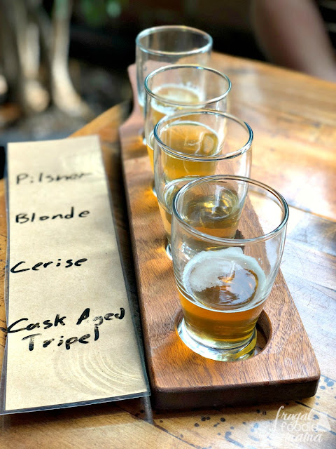 You should most definitely do a flight of their beers to get a trust taste of what all Rockmill Brewery in Columbus, Ohio has to offer