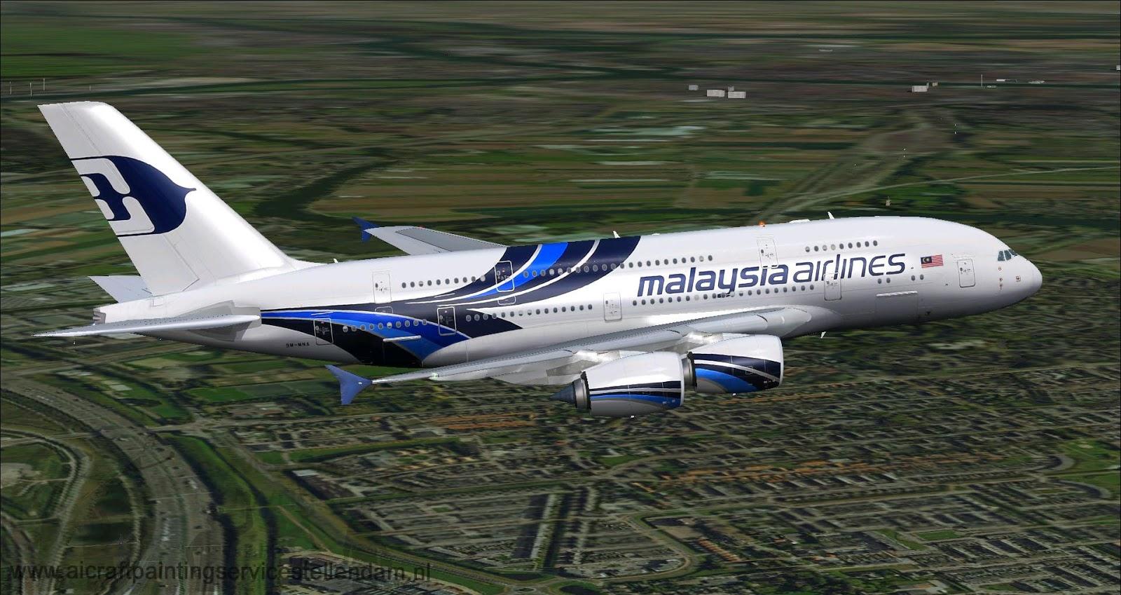 DOWNLOAD Airbus A380-800 VC Malaysia FSX & P3D - Waktu