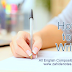 How to Write - All English Composition Tips