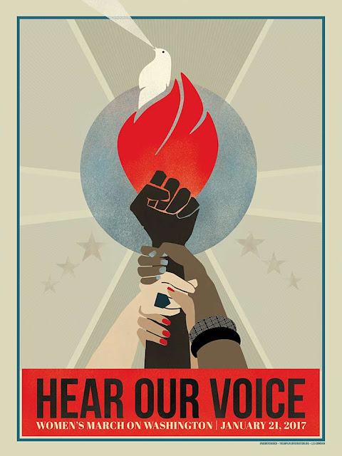 Hear our voice protest poster for women's march